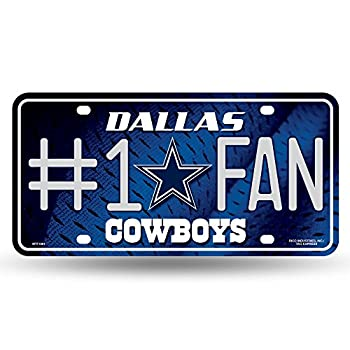 NFL Rico Industries #1 Fan Metal License Plate Tag Dallas Cowboys