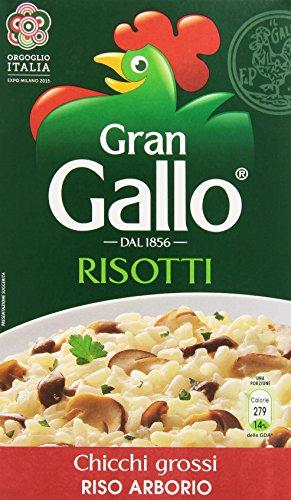 Gallo - Riso Arborio, Chicci Grossi per Risotti - 2 confezioni da 1 kg [2 kg]