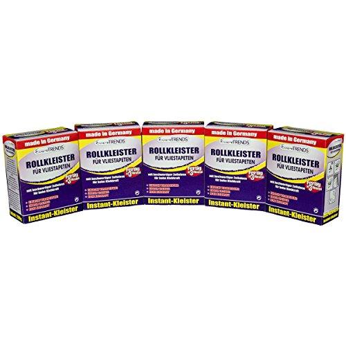 5 Pakete Tapetenkleister Rollkleister für Vliestapeten Vlieskleister Vlieskleber