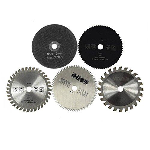 Lorsoul 5PCS / Set 85mm Diamètre 10 mm Rotatif Diamètre intérieur, Petite Lame de scie Circulaire en Alliage Dur Outils de Coupe Rotatif