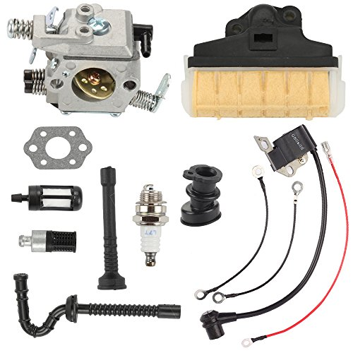 Butom Carburetor with Air Filter Ignition Coil Fuel Oil Line for Stihl MS250 MS230 MS210 025 023 021 Chainsaw