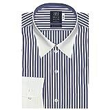 ブリックハウス ワイシャツ 長袖 形態安定 クレリック レギュラー 綿100 標準体 メンズ BM010101AA12R4A-14 ブルー L-82