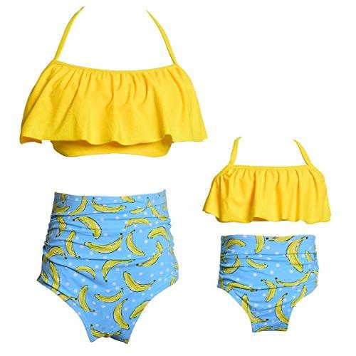 KABETY traje de baño de dos piezas para niñas traje de baño Falbala volantes traje de baño