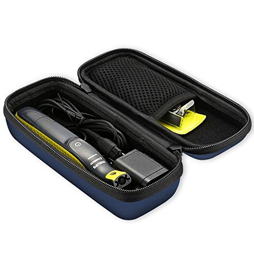 ProCase Étui pour Philips OneBlade QP2520/30, Housee Antichoc pour Rasoir Électrique, QP2530/30, QP2630/30, QP2530/25, QP2520/90, QP2520/70, avec Poche pour Accessoires-Marine