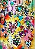 Pintar por números para Adultos Colgante de corazónDIY Pintura al óleo Kit lienzos Niños y Principiantes acrilicas Cuadros Manualidades Decoracion Regalo 40x50 cm(Con marco)