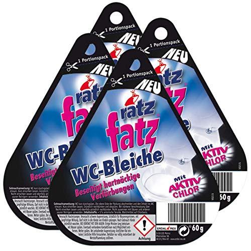 4x ratz fatz WC-Bleiche mit Aktiv Chlor 60g