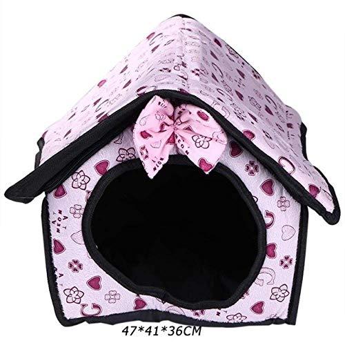 8bayfa Dog Bed Mat Kennel Zachte Kat Puppy Huisdier benodigdheden Nest Voor Kleine Medium Honden Winter Handwassen En Wasmachine Beschikbaar, S, Medium, roze