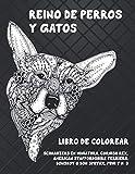 Reino de perros y gatos - Libro de colorear - Schnauzers en miniatura, Cornish Rex, American Staffordshire Terriers, Donskoy o Don Sphynx, Pumi y más