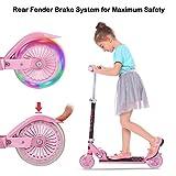 [page_title]-Bunao Cityroller Scooter Kinder Roller Tretroller Cityroller Kick Scooter klappbar mit LED Big Wheel Kugellager ABEC 7 für Mädchen Kinder ab 3 Jahre (Typ3)