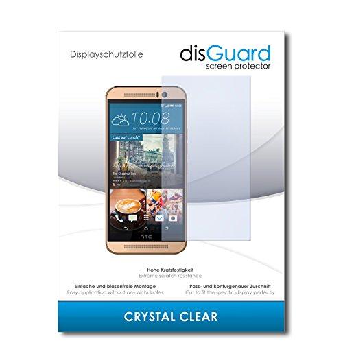 disGuard® Bildschirmschutzfolie [Crystal Clear] kompatibel mit HTC One M9 (Prime Camera Edition) [2 Stück] Kristallklar, Transparent, Unsichtbar, Extrem Kratzfest, Anti-Fingerabdruck - Panzerglas Folie, Schutzfolie