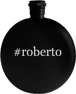 #roberto - 5oz Hashtag Round Alcohol Drinking Flask, Black