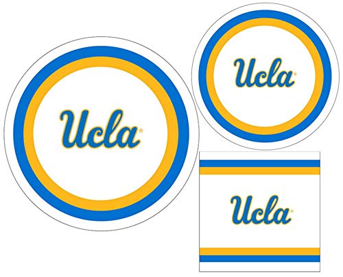 UCLA Bruins Party Supply Pack - Bundle Includes Paper Plates and Napkins for 10 Guests