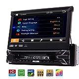 EINCAR 7 Zoll Wince In-Schlag Auto-Stereo Single 1 Din Head Unit Autoradio 1080P Video-DVD/CD-Player Bluetooth/AM/FM/RDS/USB/SD/AUX SWC GPS Navigation + Wireless Rückfahrkamera Eing