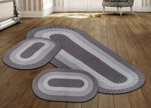 commercial Better Trend Country Blade Set A collection of 3 blades Durable and stain resistant reversible … braided rugs