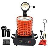 Fasttobuy 3 kg de horno de fusin digital 1100 C /2012 F, horno de fusin automtico para metal, fusin elctrica, kit con 2 barras de grafito y forma de barril de grafito