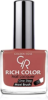 Rich Color Nail Lacquer By Golden Rose, Color Brown No142, Natural Skin, 3