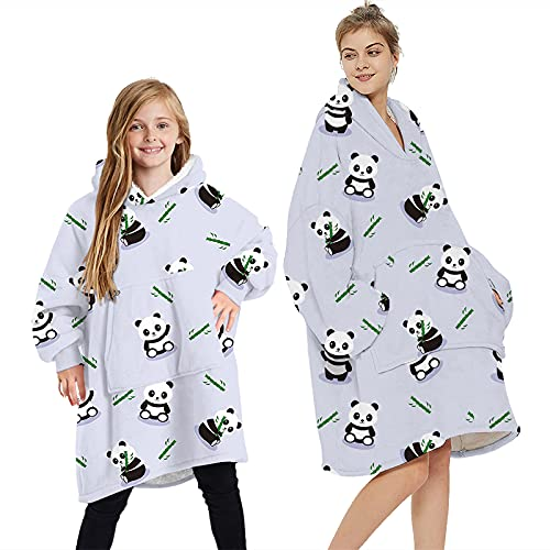 Wearable Blanket Hoodie   All Patterns & Colors   Large Front Pocket  ...