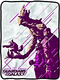 Classic Imports Guardians of The Galaxy Purple Group Fleece Throw Blanket