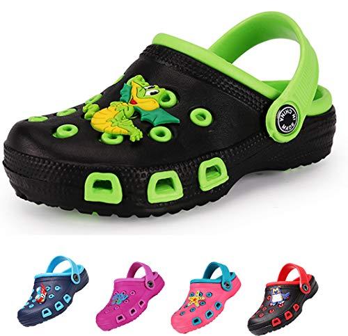 Drecage Kinder Clogs & Pantoffeln Unisex Hausschuhe Gartenschuhe Pantoletten Badeschuhe Gummi Gartenclogs Jungen Mädchen 31 EU Fußlänge 18.5cm