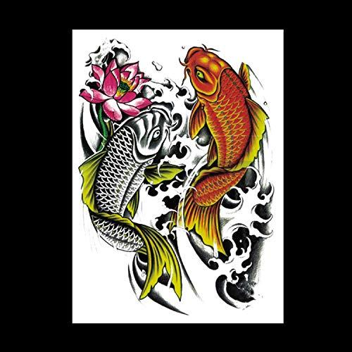 Zhuhuimin Oorspronkelijke nieuwe bloem arm tattoo sticker draak bloem arm sticker waterdicht halve arm sticker 5 set