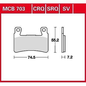 Bremsbelag TRW organischer Allround-Bremsbelag NC 700 S DCT RC61 12-14 vorne
