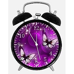 Ikea New Purple Butterfly Alarm Desk Clock 3.75 Room Decor E25 Will Be a Nice Gift