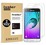 ivoler [2 Unidades] Protector de Pantalla Compatible con Samsung Galaxy J3 2016, Cristal Vidrio Templado Premium [Dureza 9H] [Anti-Arañazos] [Sin Burbujas]