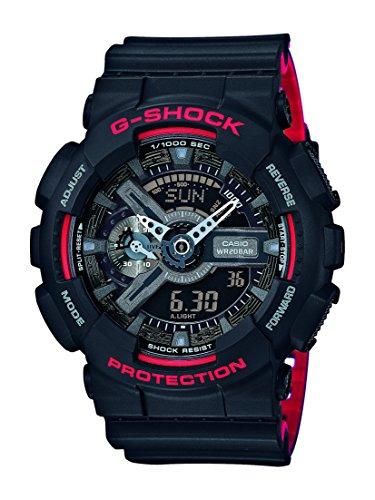 Casio Reloj Analógico-Digital para Hombre de Cuarzo con Correa en Resina GA-110HR-1AER