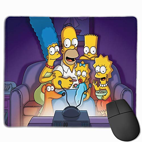 The Simpsons Mouse Pad for Gaming Office 12x10 Inches Office Gaming Anime Fat Man Mousepad