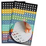 2 x 180 Sticker/Aufkleber für Familienplaner | Größe: 1x1cm | markiert Müllabfuhr, Ferien, Urlaub, Arzttermine, TÜV, Sport, Yoga & Geburtstage, Leerung Mülltonnen, gelber Sack |...