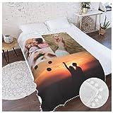 Fotodecke mit eigenen Fotos Decke - Super Weich Bedruckte Kuscheldecke personalisierte Decke Fotogeschenk für Jahrestag, Geburtstag, Weihnachten, Valentinstag