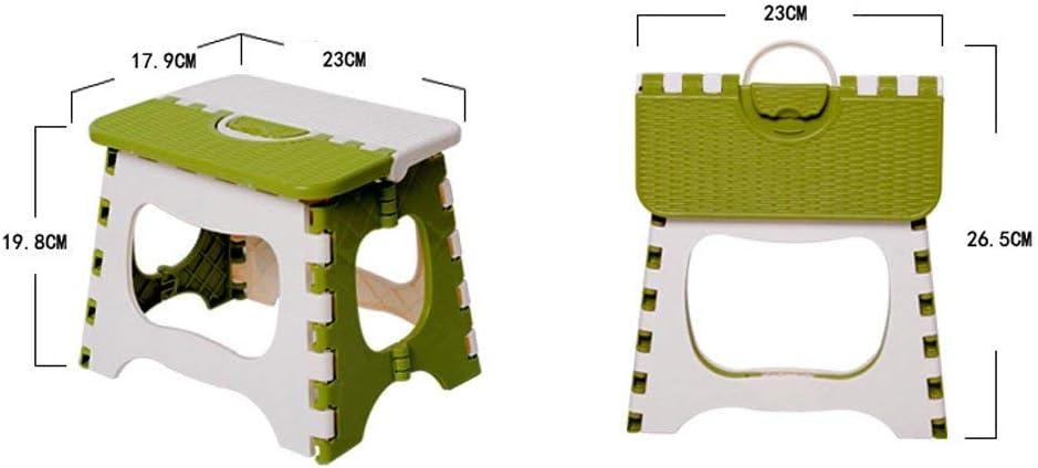 WEHOLY Tabouret Fonctionnel Tabouret Mini Chaise Pliante Portable Tabouret Pliant Train Home Chair Tabouret en Plastique épais Petit Tabouret (Couleur: Vert, Taille: L) Green