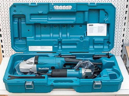 Makita MEU021 MEU041 Winkelschleiferset, 2200 W, 230 V, Blau, Grau, Metallisch