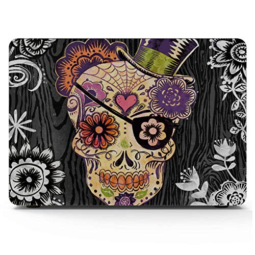 MacBook Accessories Case Portfolio Canvas Decor Sugar Skull Daisy by Geoff MacBook Air Covers Hard Shell Mac Air 11'/13' Pro 13'/15'/16' with Notebook Sleeve Bag for MacBook 2008-2020 Version