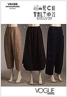 Vogue Ladies Easy Sewing Pattern 8499 Loose Fit Skirt & Pants