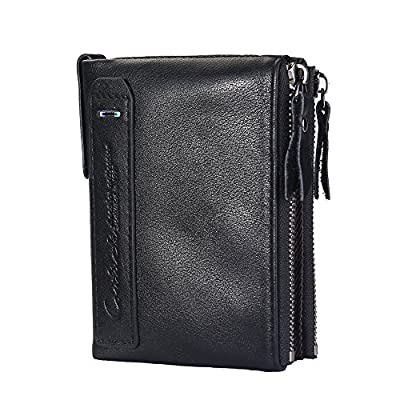 Mens Genuine Leather RFID Blocking Wallet