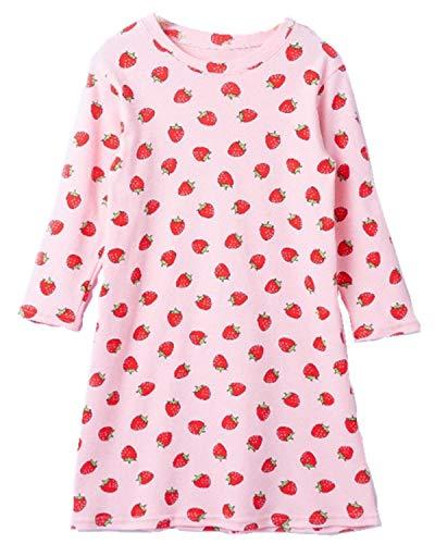 HOYMN HOYMN Schwan Nachthemden für Mädchen Langarm Nachthemd für Herbst-Winter 100% Baumwolle Grün
