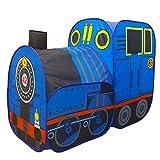 Opfury Kinder Pop Up Spielzelt, Kinder Krabbeltunnel, Kinderspielhaus Lokomotive Spielhaus, Indoor...