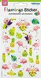 Dekorative Sticker 'Flamingo' 24 Stück mit Geloptik
