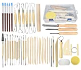 Pottery Tools, 44PCS Ceramic Clay Sculpting Tools Set with Plastic Case, for Beginners and...