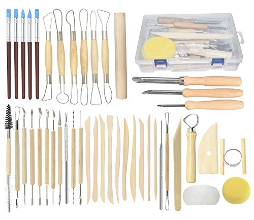Best pottery tool set with case for 2021