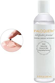 Personal Water Based Lubricant 8.2oz, PALOQUETH Premium FDA Certified Long-Lasting Value Based Lube for Women Silicone Toys 100% Safe Paraben-Free Hypoallergenic