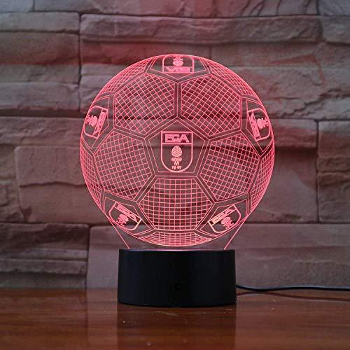 Ilusion lampara de la noche del equipo de futbol FC Augsburg 3D LED regalos para ninos Kids or lampara de mesa de noche de luz de lampara decorativa [energetica A +]