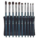 ENERGY Augen Make-up Pinsel Set Professionelles Lidschatten-Pinsel-Set 10-teiliges Make-up-Pinsel-Set für