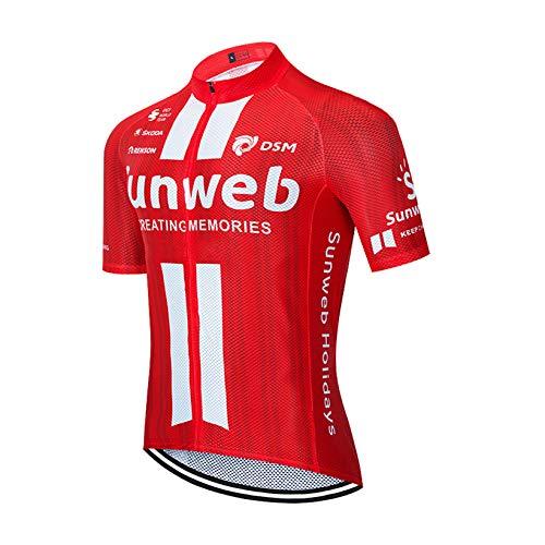 Zomer Fietsshirts Heren Mountainbike Jersey Korte mouw Ademende Fietstoppen Fietsshirts