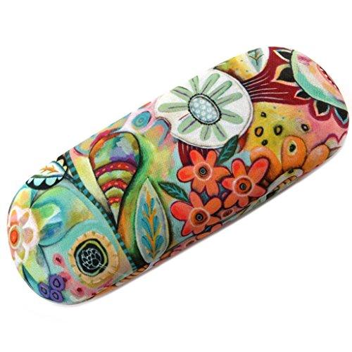 Estuche para gafas 'Allen Designs'multicolor floral - 15x6 cm.