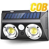 Neporal Outdoor Wall Lights, COB 20W Motion Sensor Outdoor Solar Lights with High Efficiency Lens, IP65 Waterproof Security Lights for Porch Garage Patio Driveway Garden