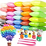 Tomorotec 33 Colors Air Dry Polymer Clay Super Soft, Ultra Light Foam Clay for Children Non-Toxic Eco-Friendly Magical Modeling Clay with Tools Set