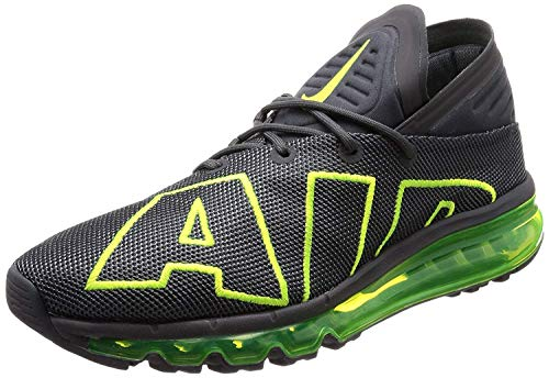 Nike Air Max Flair Mens Running Trainers 942236 Sneakers Shoes (UK 8 US 9 EU 42.5, Dark Grey Volt 008)