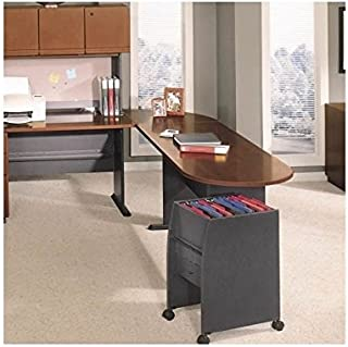 Bush Business Series A Hansen Cherry Left L-Shaped Desk with Peninsula